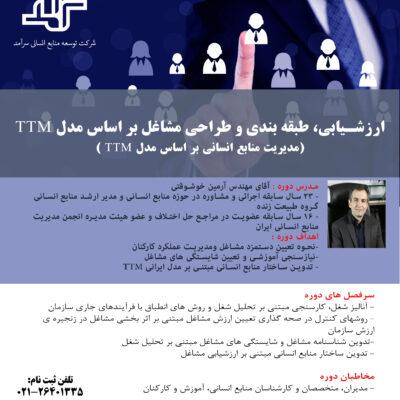 مدیریت منابع انسانی (ارزشیابی، طبقه بندی و طراحی مشاغل) بر اساس مدل TTM آرمین خوشوقتی توسعه منابع انسانی سرآمد